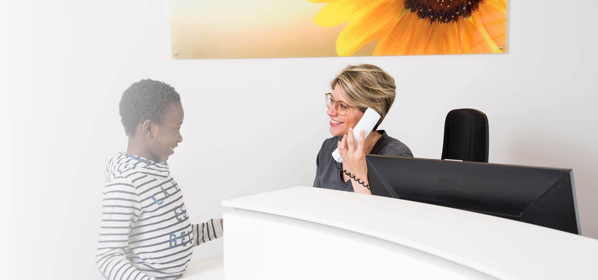Anmeldung bei der Praxis für Zahnheilkunde Dr. med. dent. Eva Gärtner