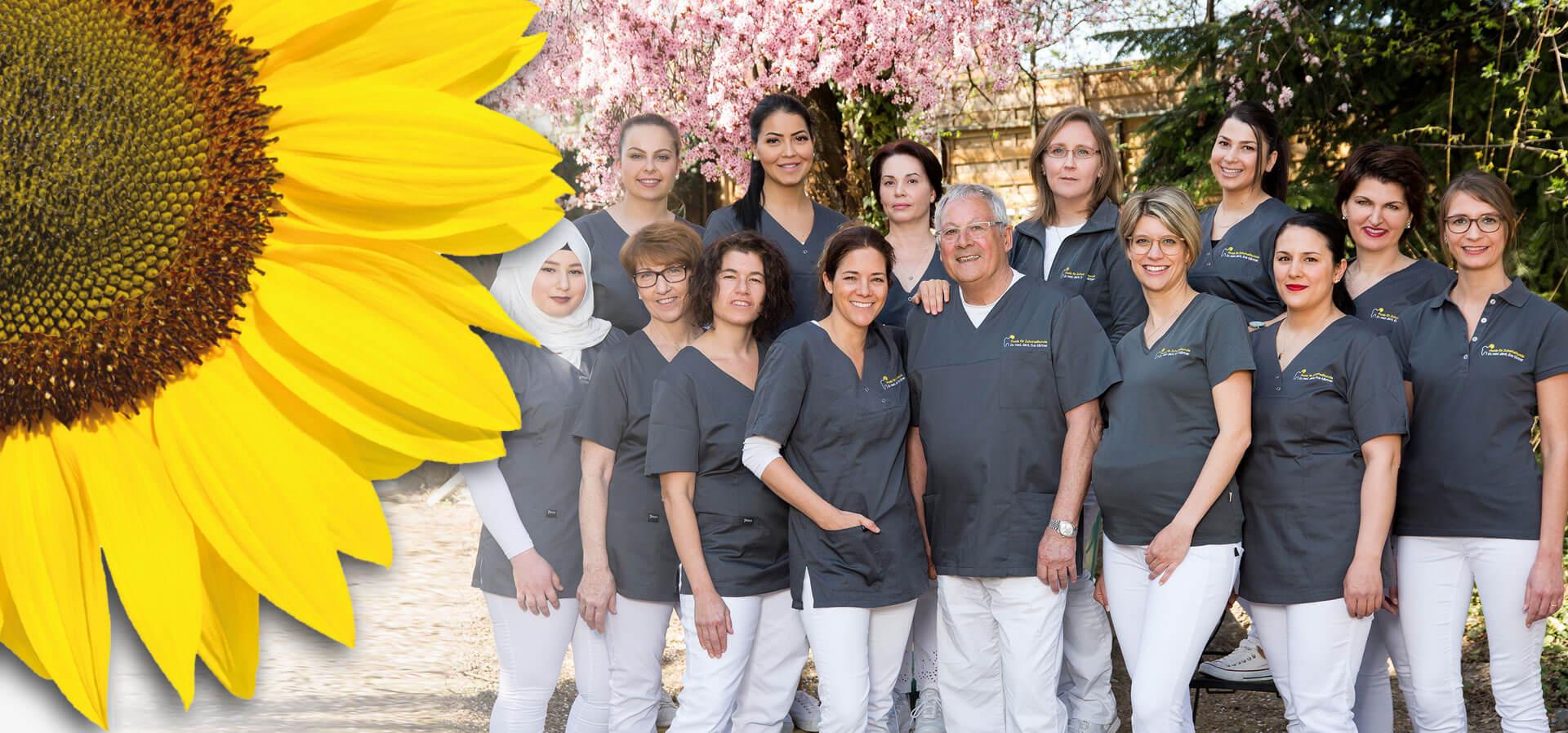 Das Team bei der Praxis für Zahnheilkunde Dr. med. dent. Eva Gärtner